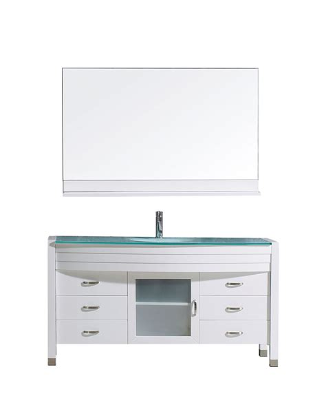 ava bathroom furniture ava 55 quot single vanity virtu usa