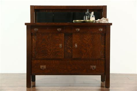 Mission Sideboard by Arts Crafts Mission Oak 1905 Antique Sideboard Server