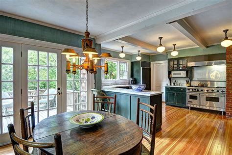 teal traditional kitchen interiors  color