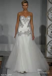 cheap wedding dresses mermaid style cheap bling bling mermaid tulle wedding dress sweetheart