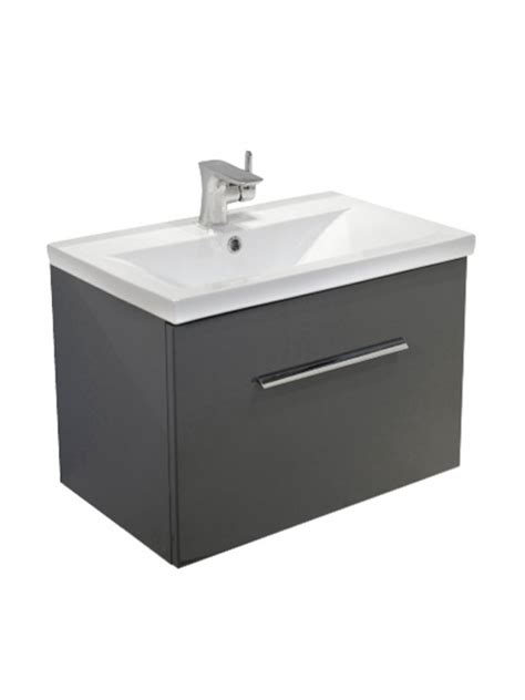 Slimline Wall Hung Vanity Unit by Antracite Slimline 50cm Wall Hung Vanity Unit