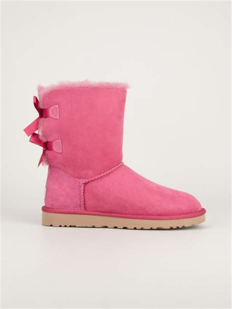 pink ugg boots with bows ugg bailey bow boot in pink pink purple lyst