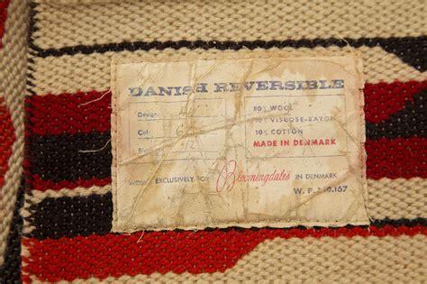 bloomingdales rug early 1960s bloomingdales rug designed in denmark at 1stdibs