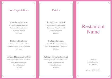 Menu Design Vorlagen speisekarten und 252 karten menu card template chris