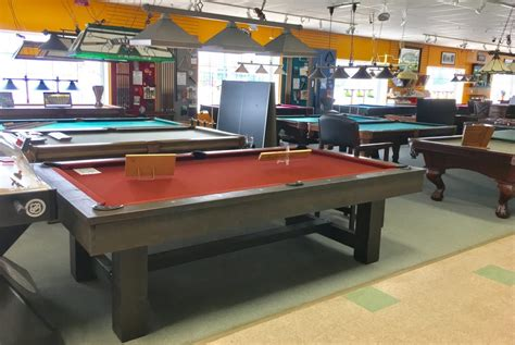 billiard tables seasonal stores
