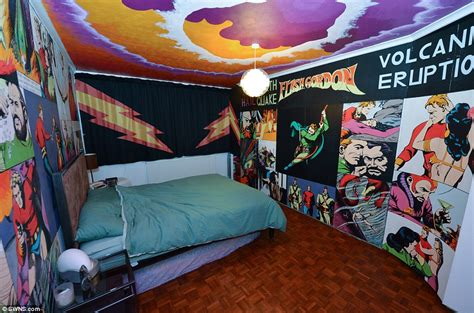 comic strip bedroom mural covered mill hill london home of simon edwards for