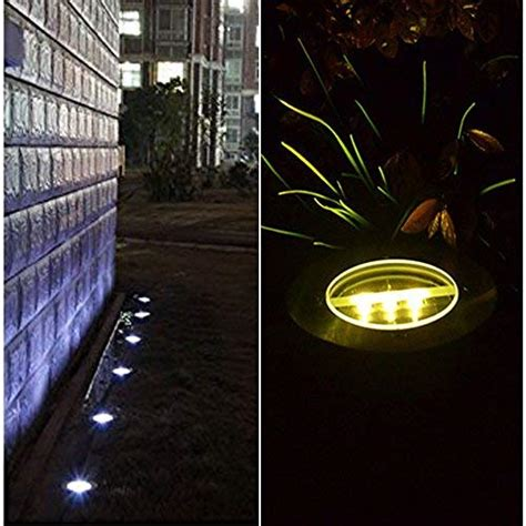 outdoor solar ground lights 4 pack covboa solar powered ground light outdoor lights