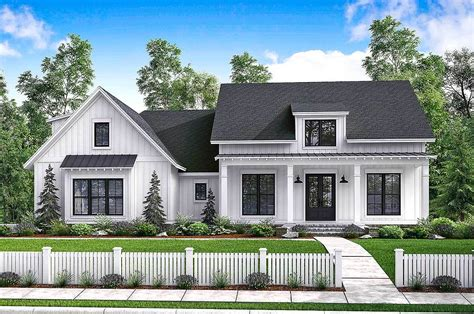 New Farmhouse Plans by Budget Friendly Modern Farmhouse Plan With Bonus Room