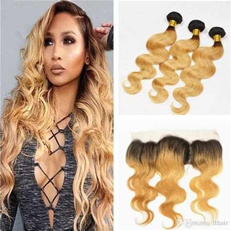 blonde ombre hair weave 8a ombre hair extensions 1b 27 honey blonde ombre human