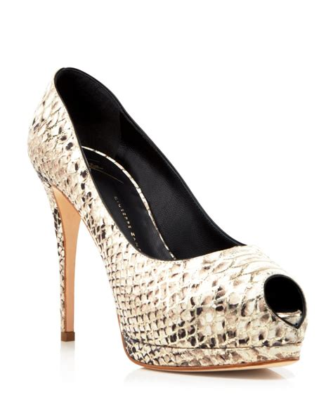 giuseppe zanotti high heels giuseppe zanotti peep toe platform pumps high