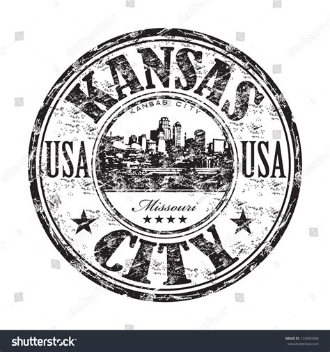 Kansas Search By Name Black Grunge Rubber St With The Name Of Kansas City From United States Of America