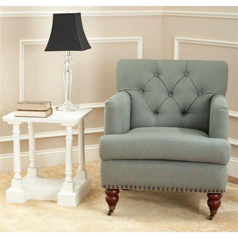 Safavieh Colin Chair by Safavieh Colin Sea Mist Linen Arm Chair Hud8212d The