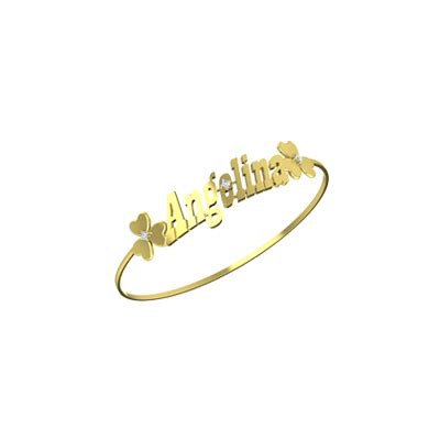 Customized Gold bracelet In Online India   Name Gold Bracelets For Men And WomenAuGrav.com