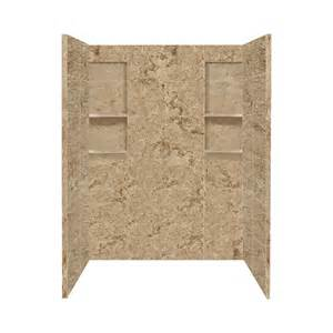 lowes shower surround shop style selections sand mountain solid surface shower