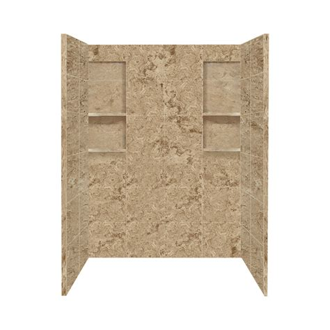 Lowes Shower Wall Panels shop style selections sand mountain solid surface shower wall surround side and back panels