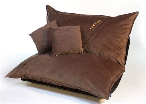 bean bag chair for two furniture brown upholstered bean bag chair with two