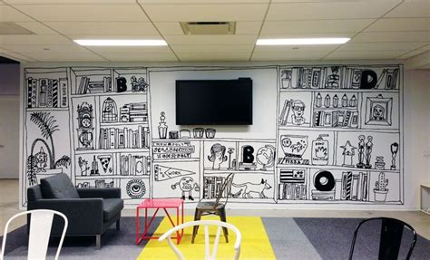 25 best ideas about office mural on