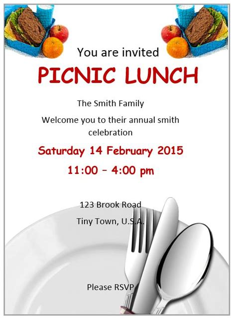 lunch invitation flyer template free flyer designs