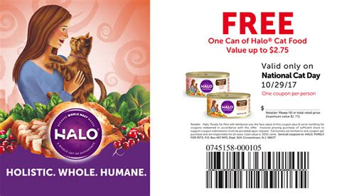 halo cat food printable coupons free halo cat food coupon on national cat day value up to