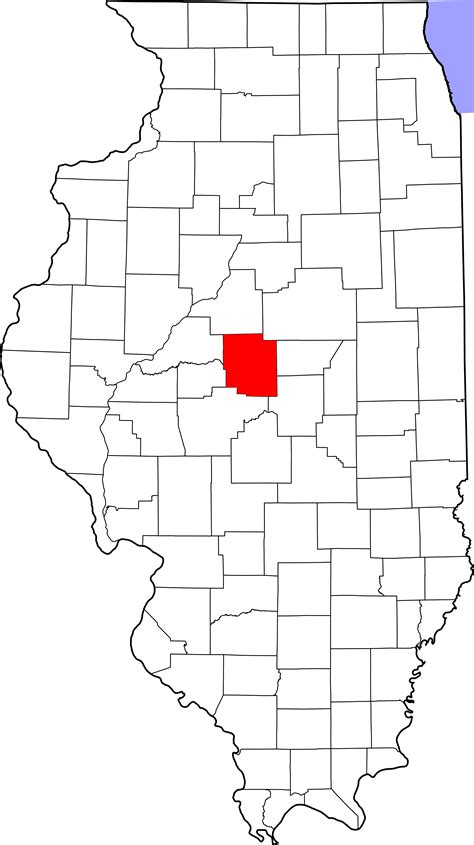 Logan County Search File Map Of Illinois Highlighting Logan County Svg Facts For Kidzsearch