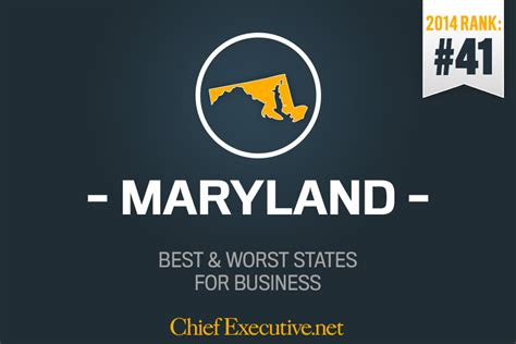 Top Mba Programs In Maryland maryland is the 41st best state for business 2014