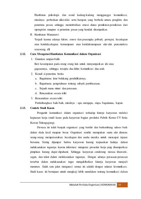 makalah format interaksi komunikasi organisasi makalah komunikasi dalam organisasi