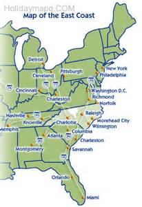 cing east coast usa east coast map of the united states