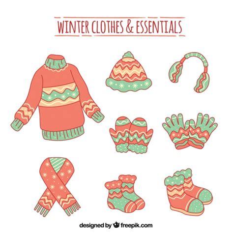 imagenes infantiles ropa de invierno set de ropa y accesorios de invierno dibujos a mano