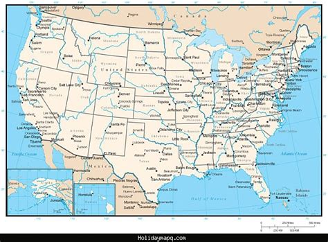 united states map tourist attractions map