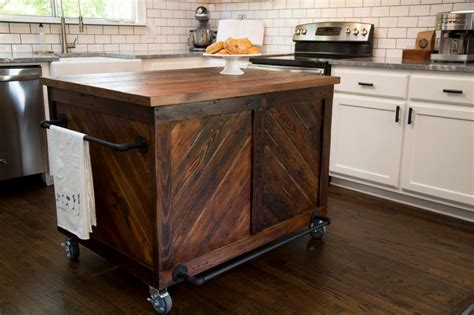 wood kitchen island kitchen makeover ideas from fixer upper hgtv s fixer