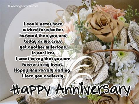 Wedding Anniversary Message To My by Wedding Anniversary Messages Wishes And Wordings