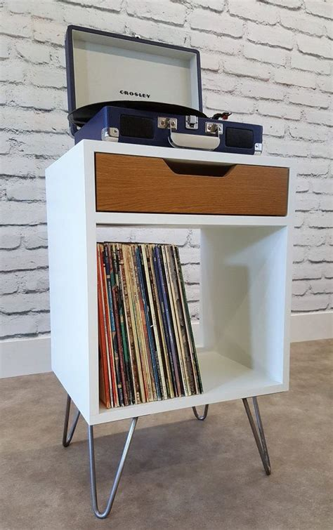 record player cabinet ikea modern nightstand record player stand bedside by