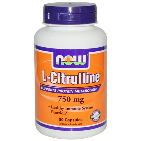 supplement j for niw now foods l citrulline 750 mg 90 capsules iherb