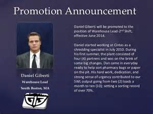 Promotion Announcement by Promotion Announcement Giberti Pdf