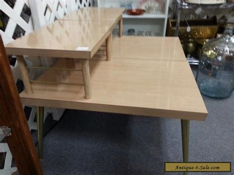 2 tier end table vintage mid century modern 2 tier coffee end tables