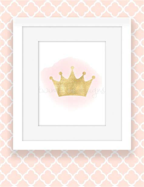 free printable princess wall art pink and gold princess wall decor girl nursery decor