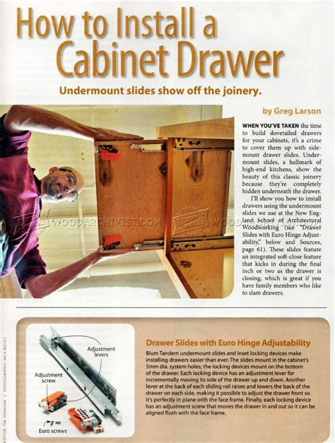 how to install cabinet drawer woodarchivist