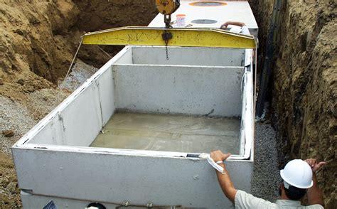 site wastewater tanks npca