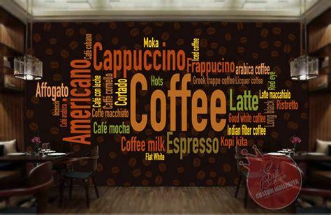 jual wallpaper dinding custom coffee shop coffeeshop