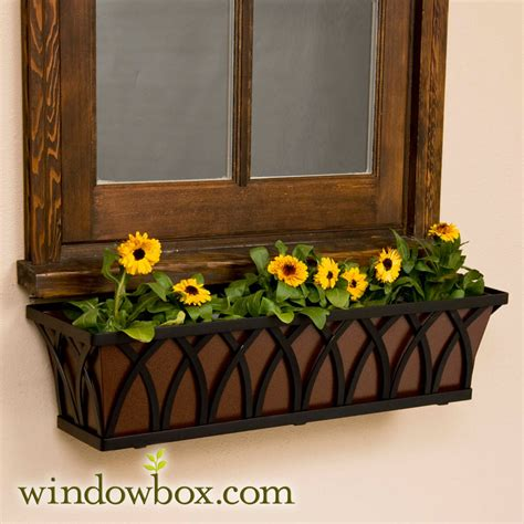 iron window boxes 72 quot arch tapered iron window box 72 quot window boxes