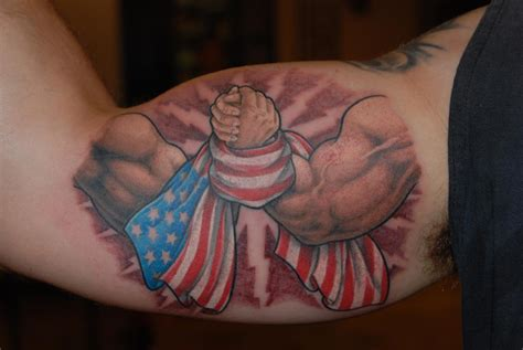 usa wrestling tattoo the needle arm chion