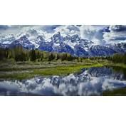 Mount Moran Snow Mountains The Grand Tetons National Park