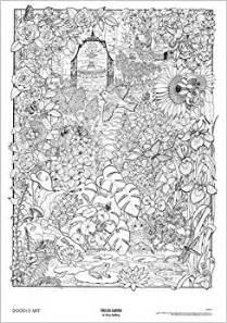 coloring posters garden doodle doodle