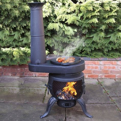 chiminea with cooking grill top 10 best chimineas outdoor heating in the winter bbq