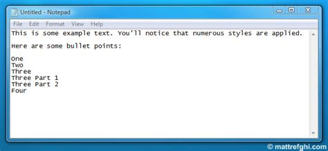 format html in notepad converting formatted text from the clipboard to plain text