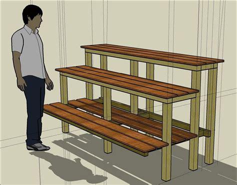 bonsai bench plans mikobonsai articles building a bonsai bench