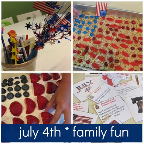 july 4th activities for kids families