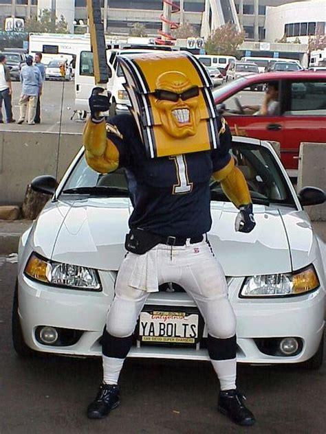 san diego chargers boltman nfl mascots football mascots