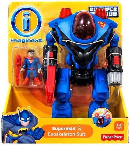 Dc Xo Rantai Set fisher price dc friends superman imaginext superman exoskeleton suit exclusive 3 figure