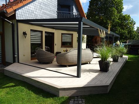 carport für 3 autos alu terrassend 228 cher self supporting pergola aluminium